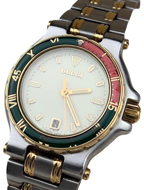 Item - Gold/Silver 9700l Rare Diver Watch