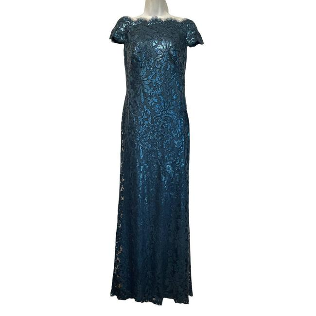 Item - Blue Sequin Starry Night Ball Gown Formal Dress Size 2 (XS)