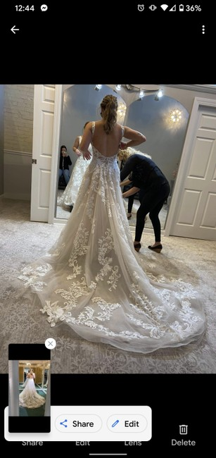 Item - Ivory and Champagne Lace One Of A Kind Traditional Wedding Dress Size 6 (S)