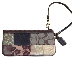 Coach Wristlet in Brown Prints