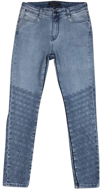 Item - Blue Cropped High Waist Dolly Skinny Jeans Size 29 (6, M)