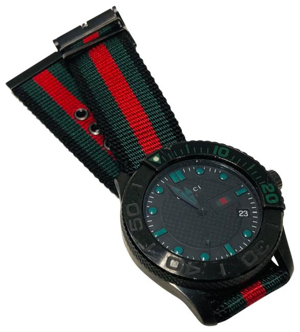 Item - Black/Green/Red Gents G-timeless Sport and Nylon Strap Watch