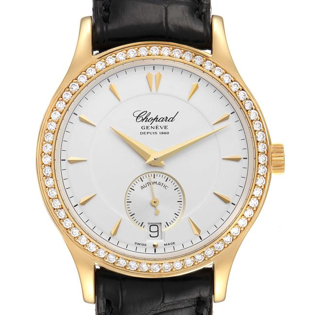 Item - Silver Classique Yellow Gold Dial Diamond Mens 1860 Watch