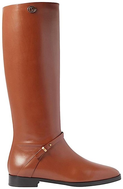 Item - Brown Tan Rosie Logo-embellished Leather Knee Boots/Booties Size EU 39.5 (Approx. US 9.5) Regular (M, B)