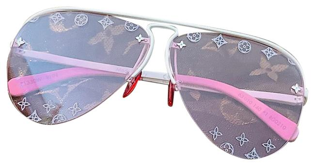 Item - Pink Lv Escale Grease Sunglasses