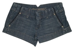 American Eagle Outfitters Zip Fly Mini/Short Shorts Blue