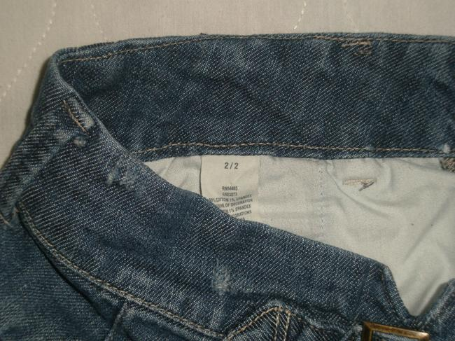 """American Eagle Outfitters * Zip Fly * Double Waist Closure * Front Slant Pockets Slit Welt Besom Back Pockets * No Coin Pocket * 1 1/2"""" Vent * * Mini/Short Shorts Blue"""