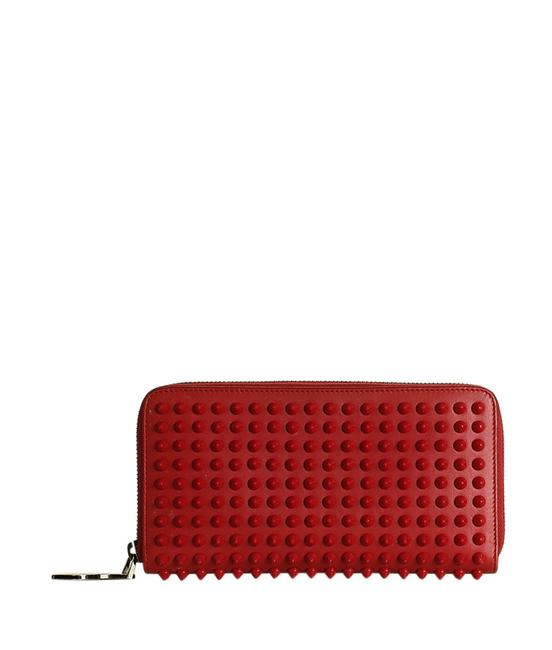 Item - Red Panettone Leather Zippered (201291) Wallet