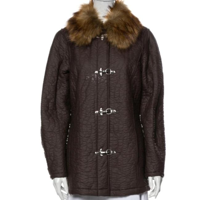Item - Brown Maple Cable Hook Closure Jacket Coat Size 4 (S)
