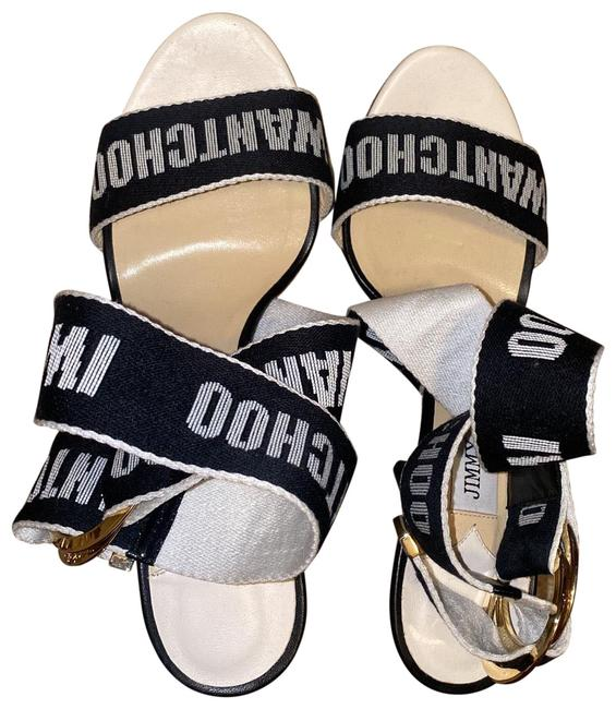 Item - Black and White Bailey 100 Sandals Size EU 38 (Approx. US 8) Regular (M, B)