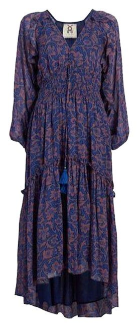 Item - Blue Alessia Ruched Waist Mid-length Cocktail Dress Size 8 (M)