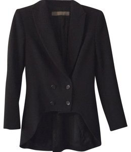 Zara Business Tailcoat Style Black Blazer