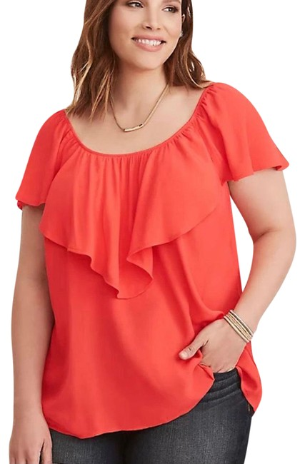 Item - Coral Red Blouse Size 26 (Plus 3x)