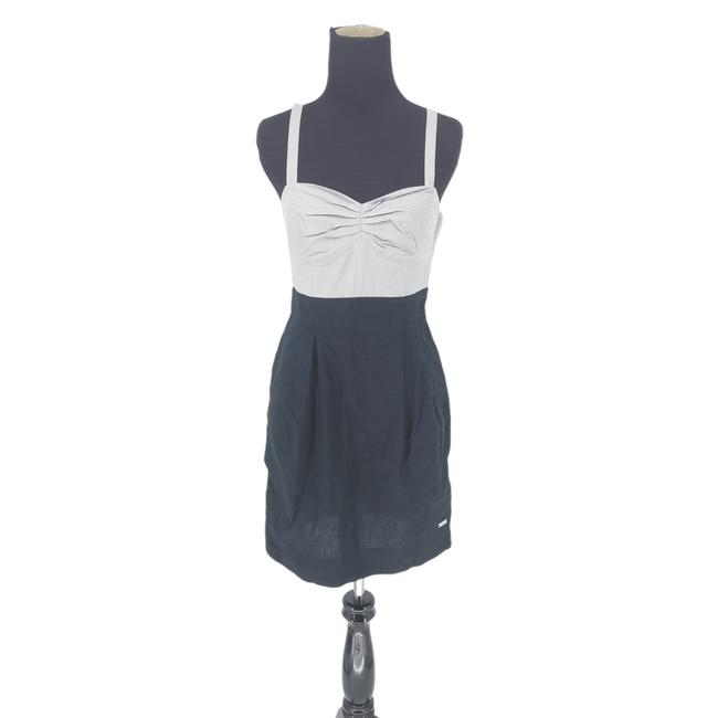Item - Gray Wilfred Black Colorblock Sleeveless Short Night Out Dress Size 4 (S)