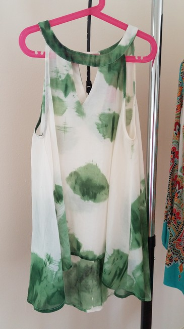Item - Green/White Blouse Size 6 (S)