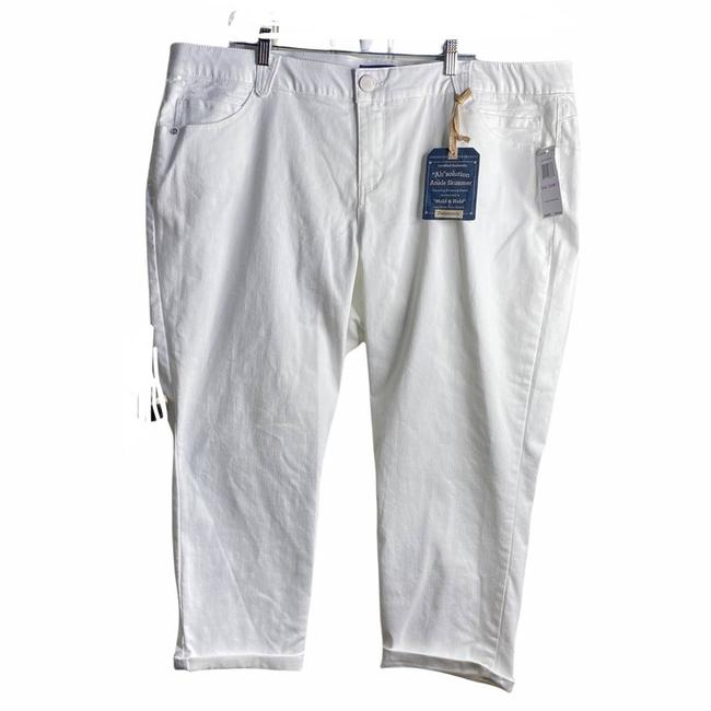 Item - White Ab Solution Ankle Skimmer Womens Capri/Cropped Jeans Size 22 (Plus 2x)