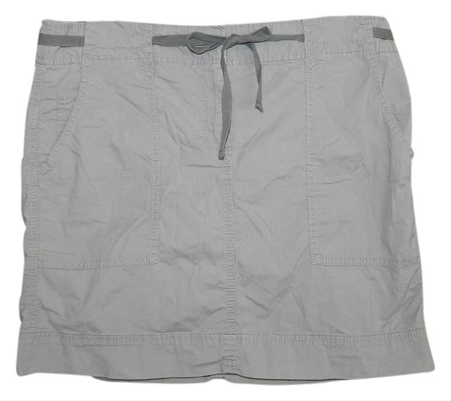 Ann Taylor LOFT Mini Skirt Gray