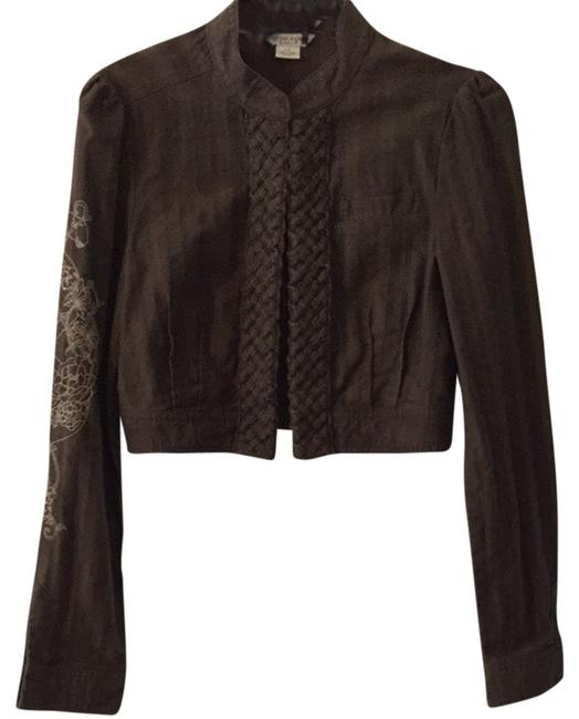 Guess Short Causal Fun Brown Jacket