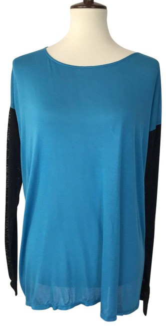 Item - Blue Apres By Daley Open Back Flaws Blouse Size 12 (L)