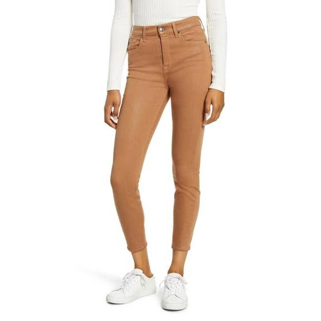 Item - Brown Copper Coated High Waist Ankle Skinny Jeans Size 27 (4, S)