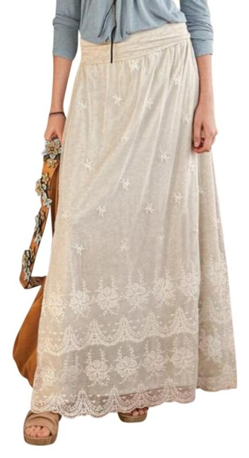 Item - Cream Greath Lengths Lace Skirt Size 6 (S, 28)