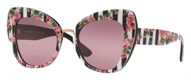 Item - Pink Floral Stripe Butterfly Sunglasses
