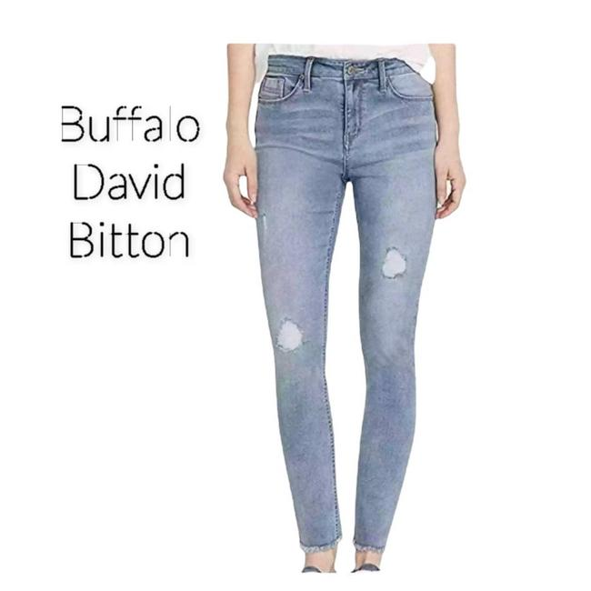 Item - Blue Ripped Skinny Jeans Size 32