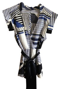 A|X Armani Exchange Top blue/white/black