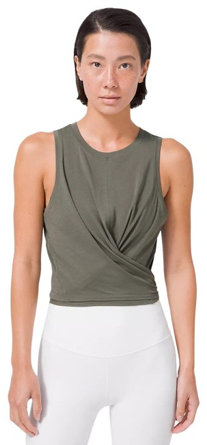 Item - Green W Time To Restore Grey New Tags Tank Top/Cami Size 6 (S)