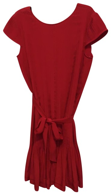 Item - Red Pintuck Short Cocktail Dress Size 8 (M)
