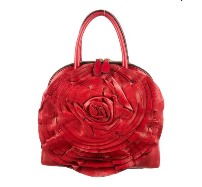 Item - Petale Dome Red Nappa Leather Satchel