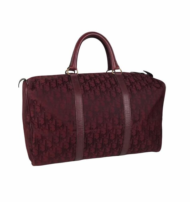 Item - Duffle Oblique Red Nylon Weekend/Travel Bag