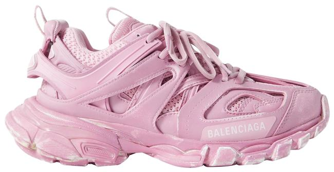Item - Baby Pink Track Logo-detailed Mesh and Rubber Sneakers Size EU 36 (Approx. US 6) Regular (M, B)