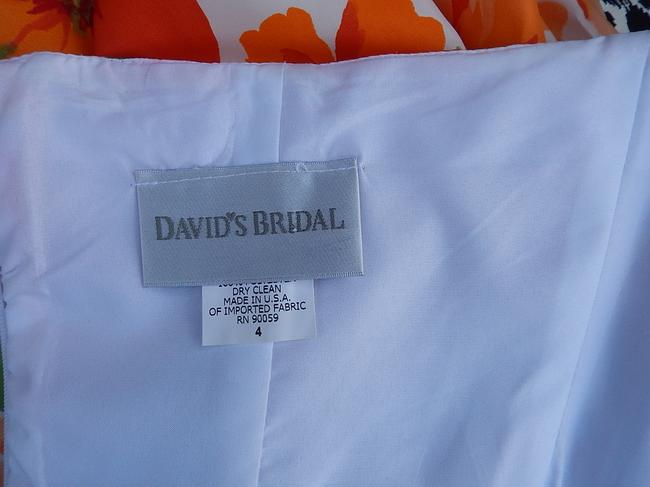 David's Bridal short dress multi color Cheerful Young Women Strapless Fun Summer on Tradesy