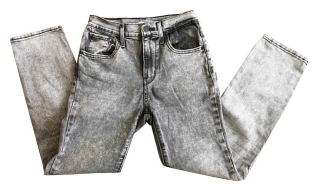 Item - Gray Acid Washed High Straight Leg Jeans Size 26 (2, XS)