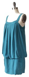 Laundry by Shelli Segal Burnout Mini Pleated Party Silk Dress