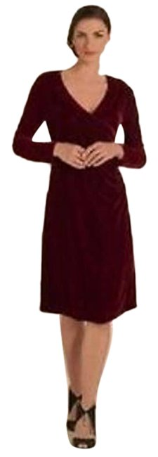 Item - Red Velvet Faux Night Out Dress Size 10 (M)