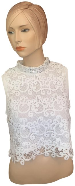 Item - White Night Out Blouse Size 10 (M)