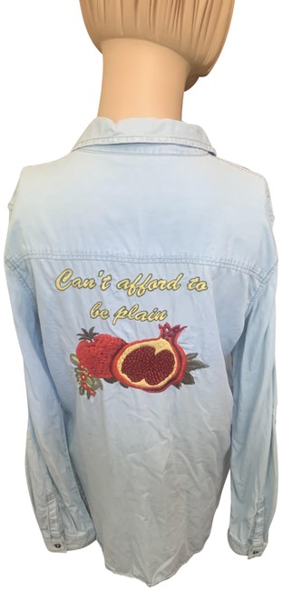 Item - Blue Red Z1975denim Button-down Top Size 10 (M)
