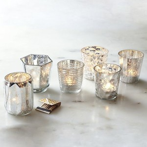 West Elm Mercury Glass Lot Of 94 Votive/Candle