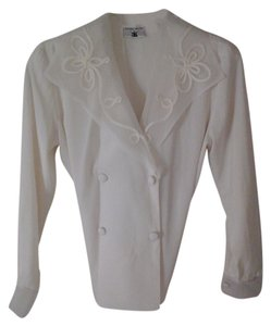 ilyssa max Vintage Monogram Top cream