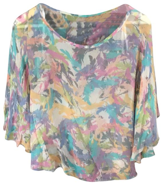 Item - Blue and Purple Blouse Size 2 (XS)
