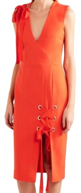 Item - Red Martinique Mid-length Cocktail Dress Size 2 (XS)