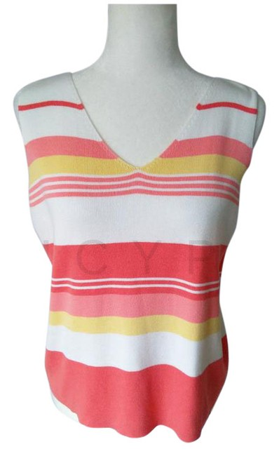 Item - Multi Color Vtg Sweater Sleeveless Shell Med Tank Top/Cami Size 10 (M)
