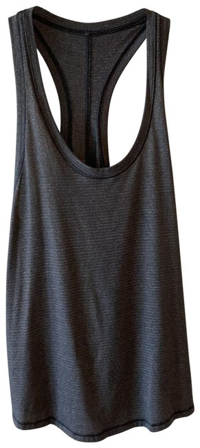 Item - Charcoal Grey Racerback with Tie Back Activewear Top Size 4 (S)