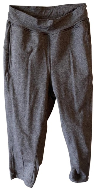 Item - Charcoal Grey Cropped Joggers Activewear Bottoms Size 4 (S)