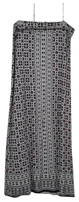Item - Blue Pink and White L Floral/Geo Skirt Size 14 (L, 34)