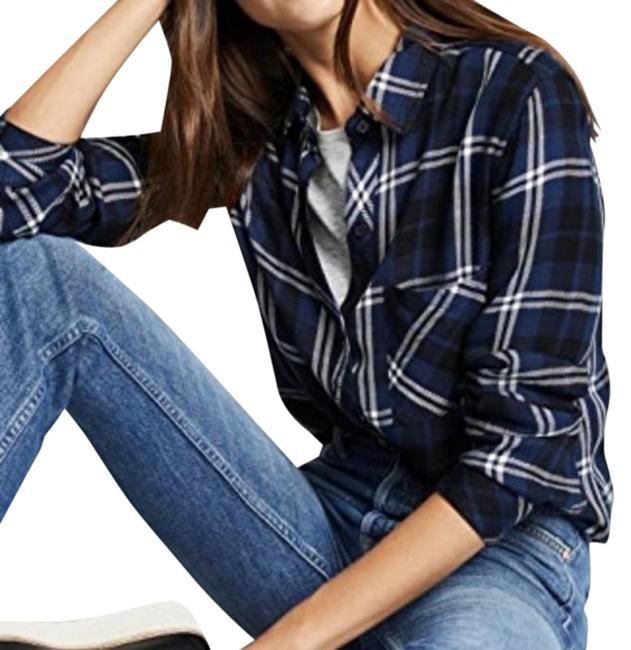 Item - Navy Almond Tinsel Hunter Button-down Top Size 2 (XS)