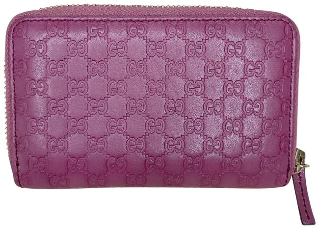 Item - Mauve Microguccissima Zipped Coin Case Wallet