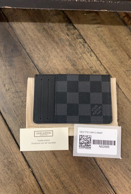 Item - Black Gray Damier Graphite Neo Wow 2021 New Sold Out Card Holder France Wallet